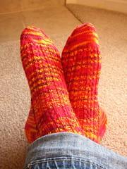 Lava Flow Socks