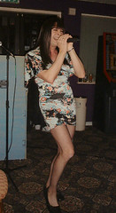 Givin' it some (Jaye Kaye TV) Tags: drag transgender tranny transvestite karaoke dragqueen transgendered crossdresser minidress blacktights