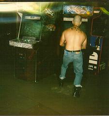 skinhead (rion rinker) Tags: california beach tattoo naked skins bald videogames gaming gamer oi punks beefcake skinhead sharps soulcalibur docmartens nudemale santacruzboardwalk