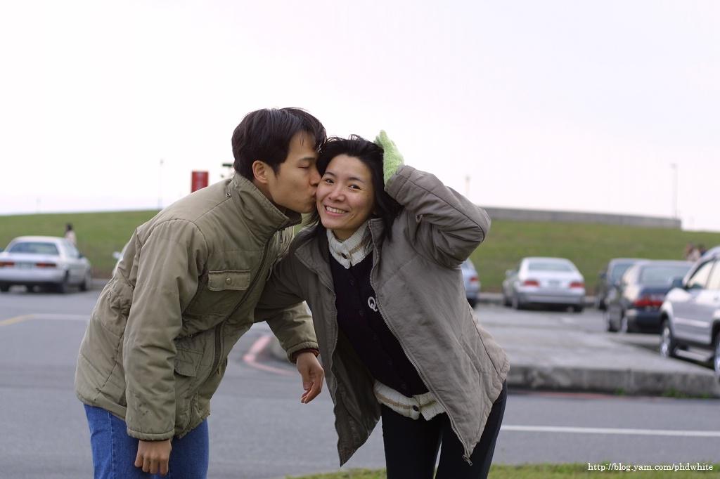 Yuxin & me, @ Fisher's Dock, winter, 2005