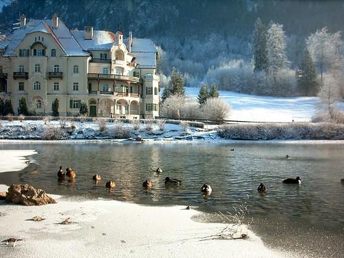 Hotel on the Alpsee (Alp lake) near Füssen