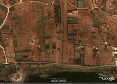 El Balas - Vue sattellite des ruines du palais Chiboub (El Balaas)