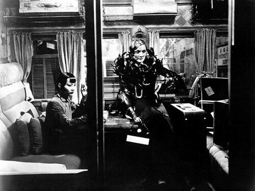 In the Shanghai Express, Marlene Dietrich and Anna May Wong are politely called adventuresses as they ride a train through war-torn China to Shanghai.