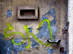 Signed Decay (ToniVC) Tags: door old urban metal canon graffiti bravo peeling paint searchthebest kick lock decay urbandecay powershot textures peelingpaint signed supershot a640 superaplus aplusphoto superbmasterpiece goldenphotographer tonivc