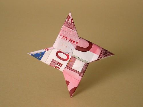 billet de banque origami