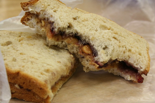 Peanut Butter and Jelly Sandwich with Bites