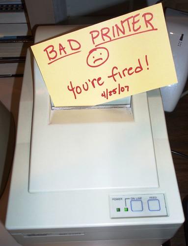 Bad Printer