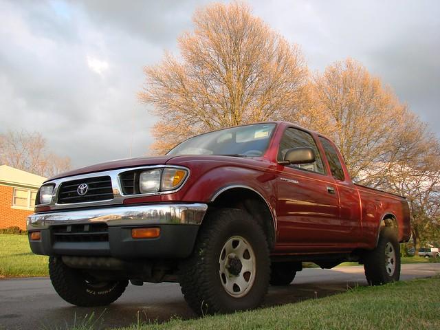 red alaska truck spring kentucky roadtrip toyota tacoma