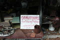 Donations (Jacob...K) Tags: signs sign america nc junk south rusty maggie southern valley popcorn signage americana appalachian appalachia sutton donations moonshiner