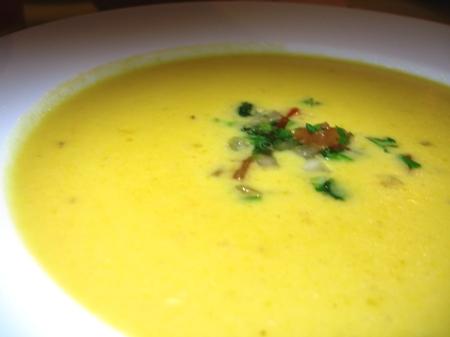 sandias - Sopa de Calabaza Con Salsa