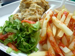 CWC 2007 The Finals - The Lunch (Chennette) Tags: food fish west lunch salad chips fries finals barbados bridgetown marlin indies australiavssrilanka cricketworldcup cwc2007 kensingtonoval