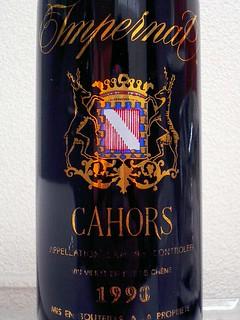 Les Cotes d'Olt, Cahors Impernal, 1990