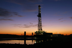 Reflections of the Morn (Imahornfan) Tags: texas rig oil drilling