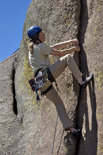 Dylan leads Piece of Dirt (5.11a)