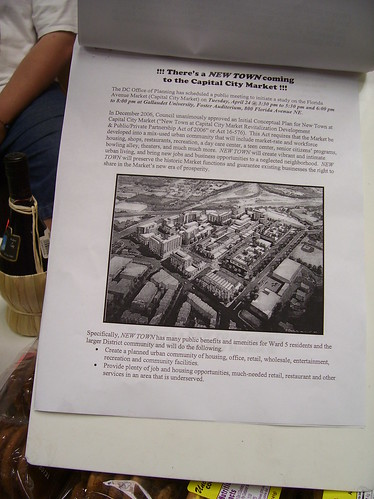 The petition at Litteri's includes a copy of the New Town proposal