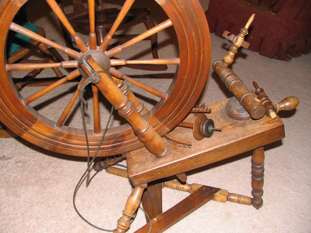 My mom's spinning wheel