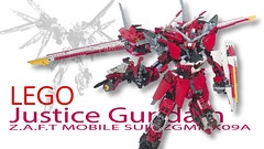 Cover LEGO Justice Gundam ZGMF-X09A (demon14082001) Tags: lego gundam mobile suit seed moc creation perfect grade robot mecha destiny nền trắng justice x09a x10a zgmf