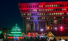 A City Hall Christmas (mgstanton) Tags: boston christmas lights cityhallplaza bostoncityhall winterwonderland