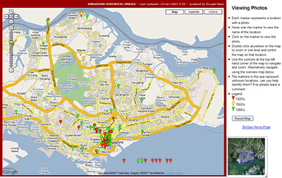 Googlemaps - displaying Singapore's historical sites