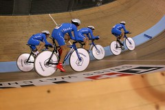 Italian Pursuit Team (jkoshi) Tags: bicycle carson track action fixedgear velodrome koshi jkoshi adtcenter homedepotcenter 2007uciworldcup