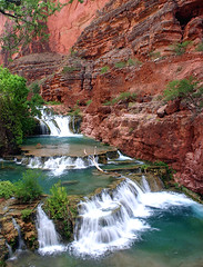 Beaver Falls (Forget Me Knott Photography) Tags: arizona water creek river waterfall colorado stream indian grand canyon falls beaver havasu cascade reservation supai havasupai brianknott forgetmeknottphotography fmkphoto