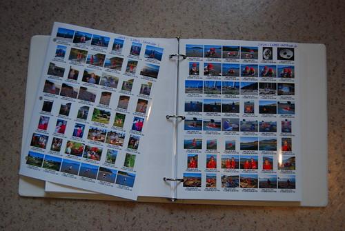 Photo storage -- index sheets