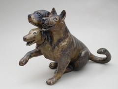 Cerbie (amyboemig) Tags: sculpture dog art dogs bronze myth cerberus crittersivemade amyboemig boemig
