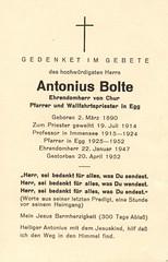 HH Pfarrer Anton Bolte (1890-1952)