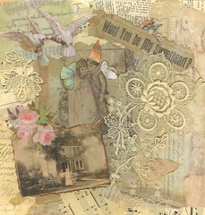 First Collage ('Playingwithbrushes') Tags: old roses music art texture collage vintage lace creative commons cc paintshoppro alteredart shabby freetouse playingwithbrushes