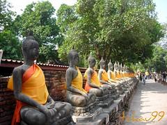 Wat Yai Chaimongkon Temple in Ayutthaya, Thailand