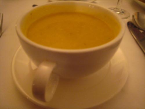 晚餐的濃湯