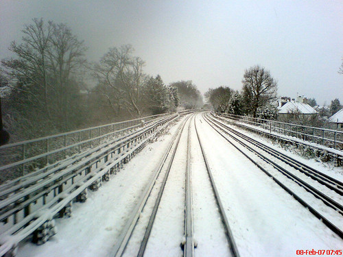 Snow from Tube Driver's Cab