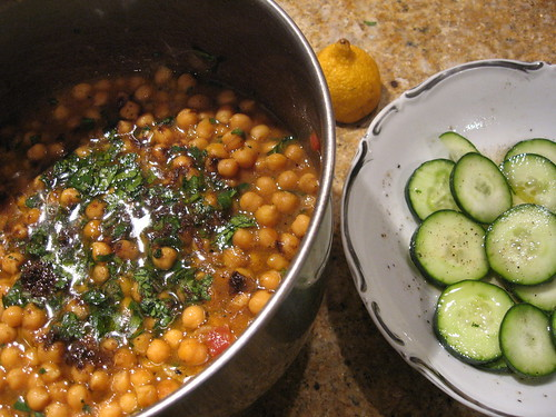 Curried Chickpeas & Cukes