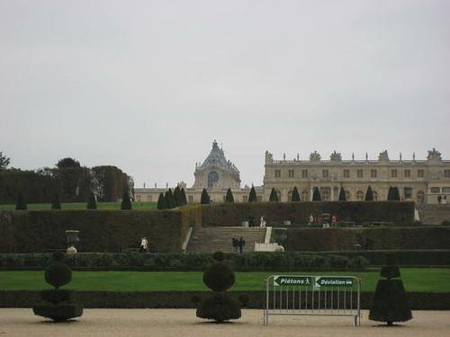 Back of Château de Versailles