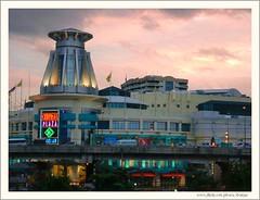 Bangkok at Dusk (Araleya) Tags: leica light sunset urban color building architecture composition landscape thailand fz20 asia southeastasia poetry dusk bangkok capital citylife cityscapes panasonic thai araleya