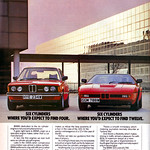 BMW Advert - E21 320 and M1.