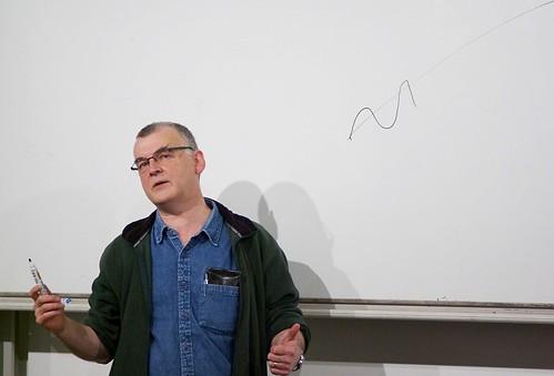 Ken MacLeod uses a Whiteboard