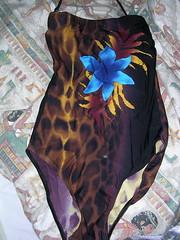 Baddräkte leopard liten