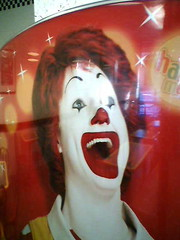 WE ALL FLOAT DOWN HERE AT MICKEY D'S