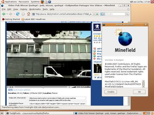 Une vidéo flash 9 sous Ubuntu 64 bits