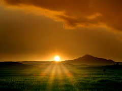 Toward west (Michel Khoury) Tags: sunset mountain grass bravo bestof cyprus rays larnaka interestingness3 abigfave p1f1
