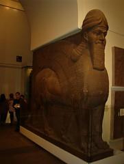 12-19-2003 London British Museum 0020 (clare_and_ben) Tags: uk england unitedkingdom london britishmuseum museum statue mesopotamia nimrud iraq lamassu