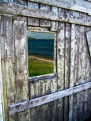 Rustic Reflection! Elliston NL (Kevin_Barker) Tags: ocean door canada reflection newfoundland rustic atlantic elliston rustyandcrusty kevinbarker bonavistabay lpwindows lpdoorways TGAM:photodesk=reflection