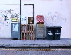 . (yeahferris) Tags: street uk london wall canon eos junk mess ferris east shoreditch crate cobbles bins wheelie tidy redchurch 400d
