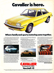 Vauxhall Cavalier Mk1 advert (Retro-Motoring) Tags: auto old classic car vintage magazine gm ad scan retro advertisement advert cavalier mag vauxhall mk1 retromotoring:modeltype=mk1 retromotoring:manufacturer=gm retromotoring:marque=vauxhall retromotoring:model=cavalier