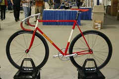 Richard Sachs Track Bike (pcnotpc) Tags: show art bike bicycle handmade north american richard artisan 2007 sachs handbuilt nahbs