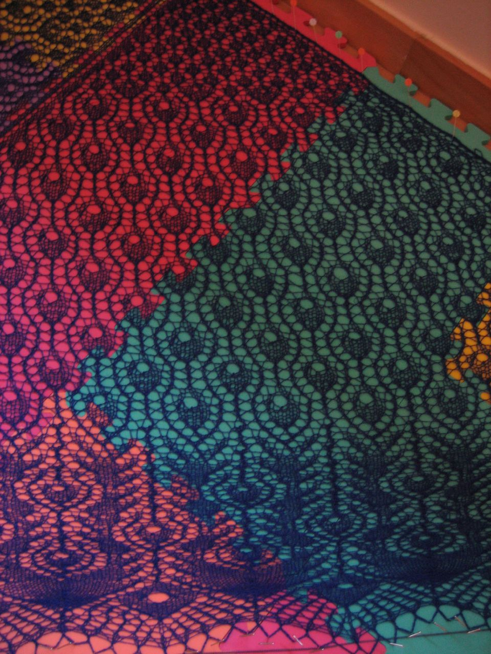 Peacock Feathers Shawl, detail