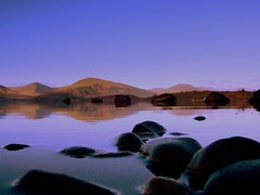 A few stones but no ripple ! (Nicolas Valentin) Tags: blue sky reflection water scotland lochlomond instantfave abigfave superaplus aplusphoto superhearts theroadtoheaven