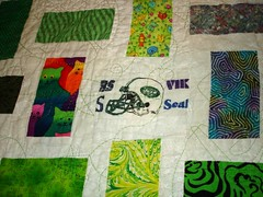 NY Jets quilt close up