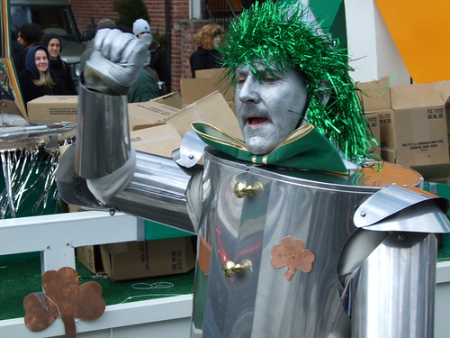 Even the Tin Man gets into St. Patrick's Day celebrations